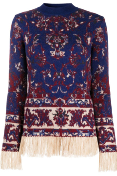 Paco Rabanne KNIT PULLOVER WITH FRINGE - Alternate List Image