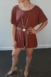Anama Knit Romper Cinnamon - Product Mini Image