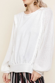 Umgee USA Knit Ruffle Top - Product Mini Image