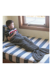 DEI Knit Shark Tail Blanket - Product Mini Image