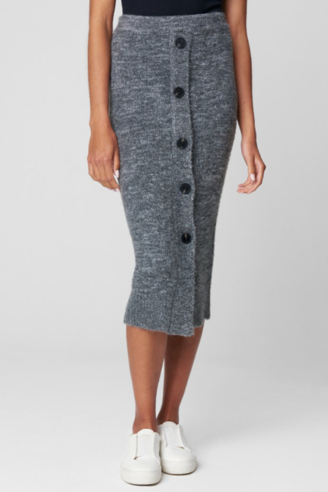 Blank NYC KNIT SKIRT W/ BUTTONS - Main Image