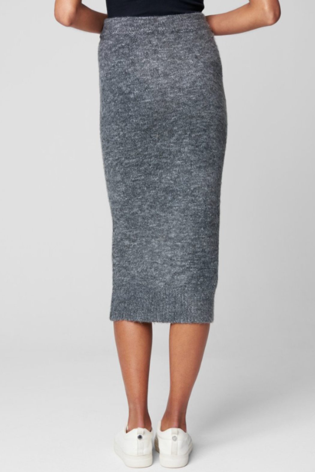 Blank NYC KNIT SKIRT W/ BUTTONS - Back Cropped Image