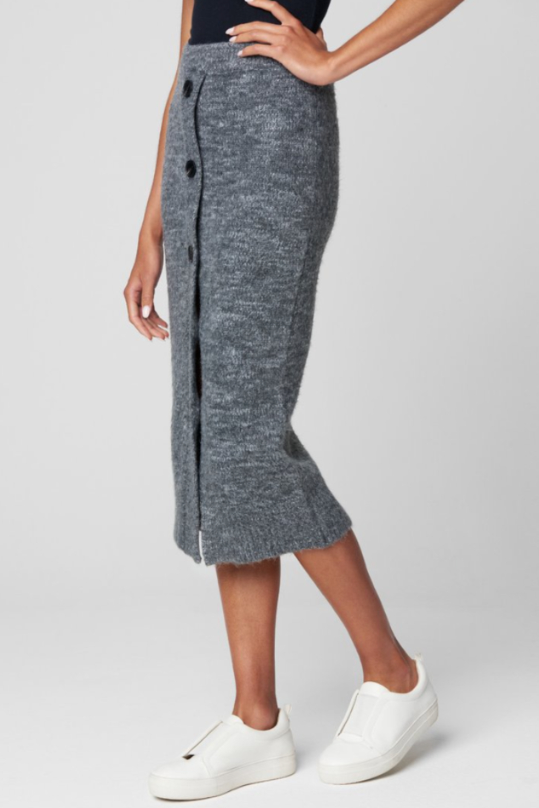 Blank NYC KNIT SKIRT W/ BUTTONS - Side Cropped Image