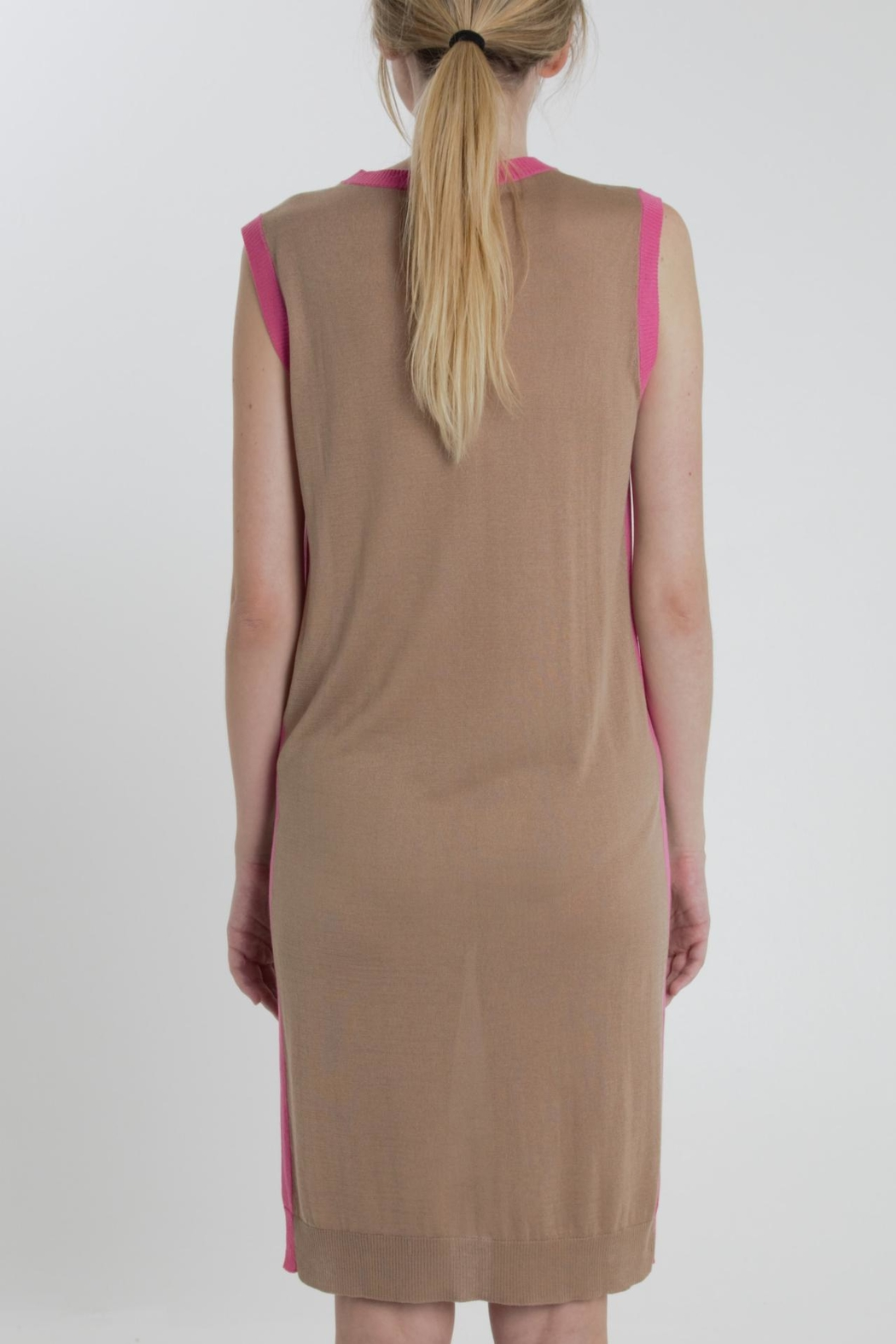 Thread+Onion Knit Straight Dress - Side Cropped Image