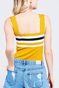 BaeVely Knit Stripe Bodysuit - Alternate List Image