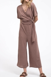 Blu Pepper Knit Surplice Jumpsuit - Product Mini Image
