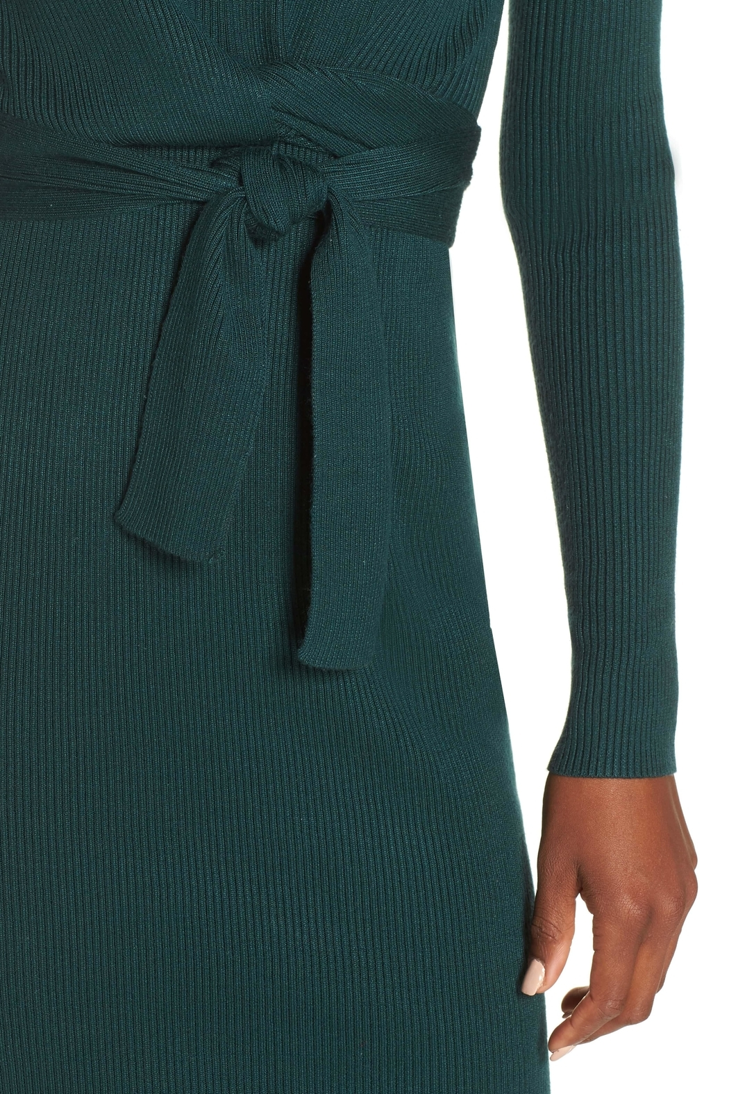 Adelyn Rae Knit Sweater Dress - Back Cropped Image