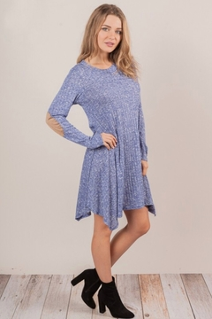 Chris and Carol knit sweater dress with elbo patch - Product List Image
