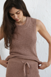 By Together Knit Sweater Mockneck Tank - Front cropped