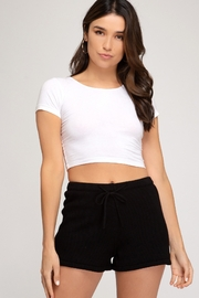 She + Sky Knit Sweater Short - Front cropped