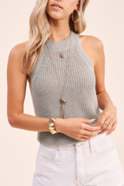 LA MIEL  Knit Sweater Tank - Product Mini Image