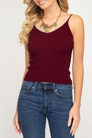She + Sky Knit Sweater Tank - Front cropped