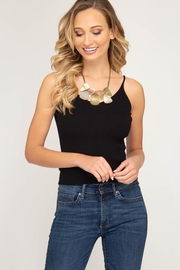 She + Sky Knit Sweater Tank - Product Mini Image