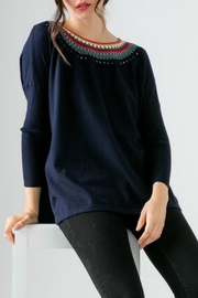 Thml Knit sweater w/ neckline detail - Product Mini Image