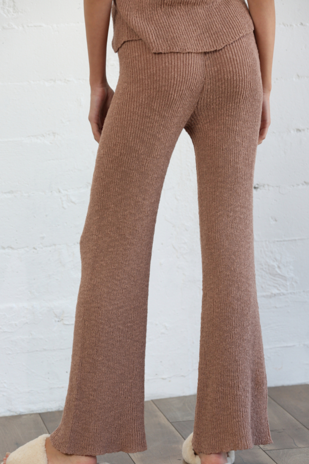 By Together Knit Sweater Waist Pants - Front Full Image