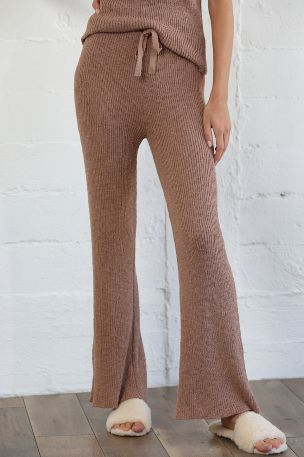 By Together Knit Sweater Waist Pants - Main Image