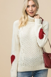 Entro Knit Sweater with heart elbow detail - Product Mini Image
