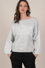 Molly Bracken Knit Sweater with Lace Overlay - Product Mini Image