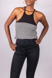 Love Tree Knit Tank Black - Front cropped