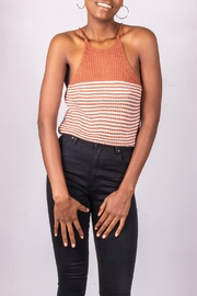 Love Tree Knit Tank Rust - Front cropped