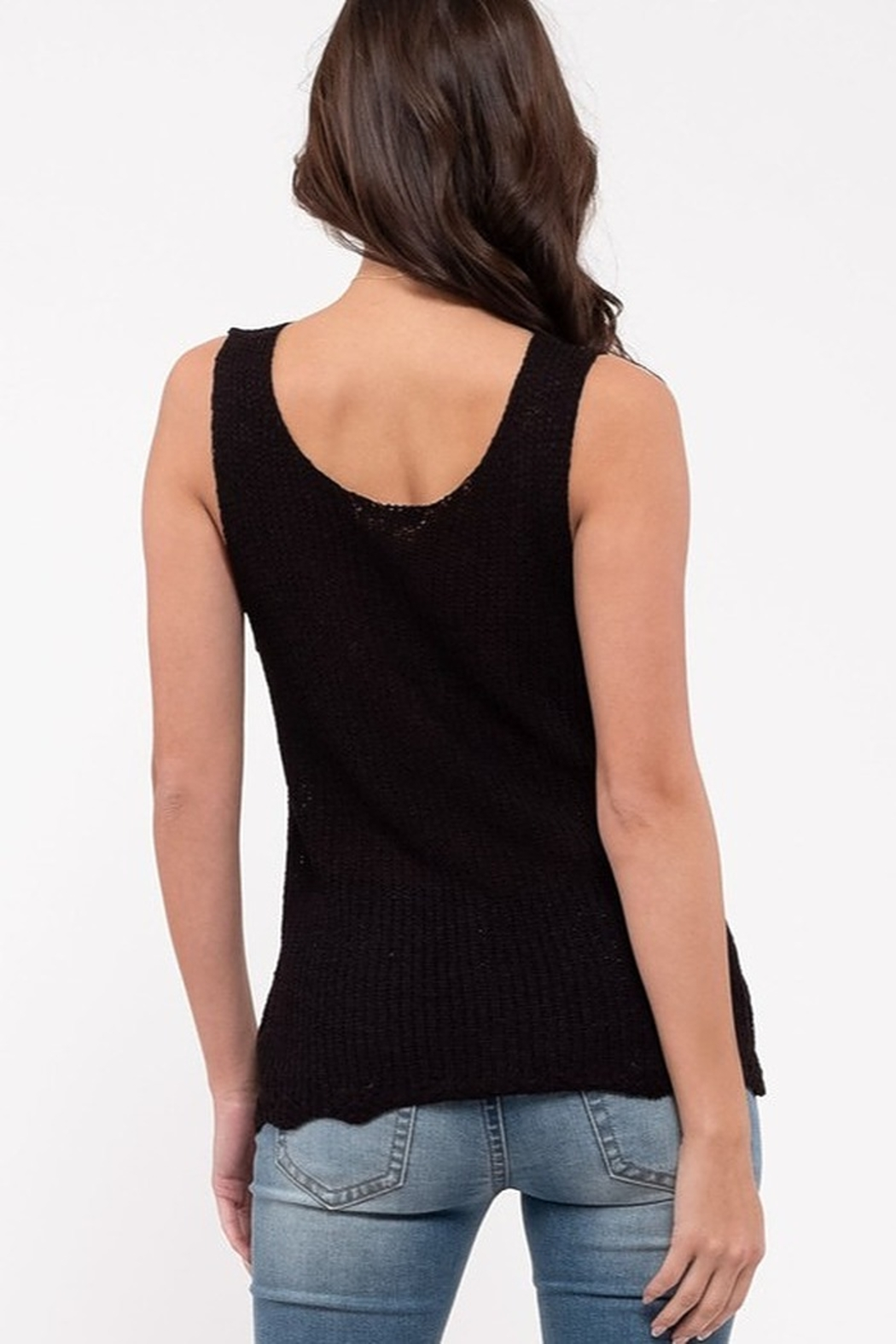 blu Pepper  Knit Tank Top - Front Full Image