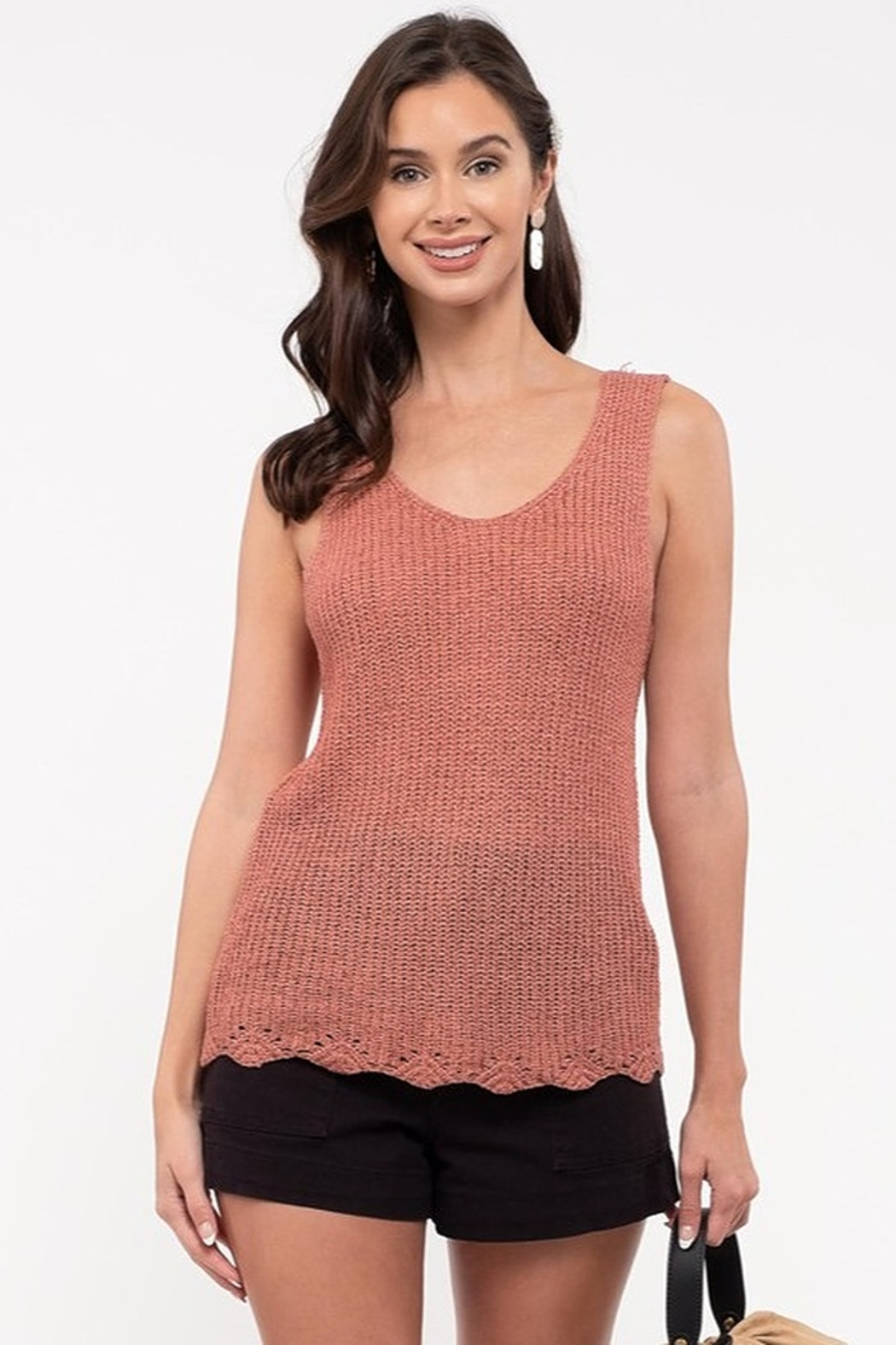blu Pepper  Knit Tank Top - Front Cropped Image