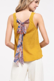 blu Pepper  Knit Tank with Twist and Tie Detail - Product Mini Image