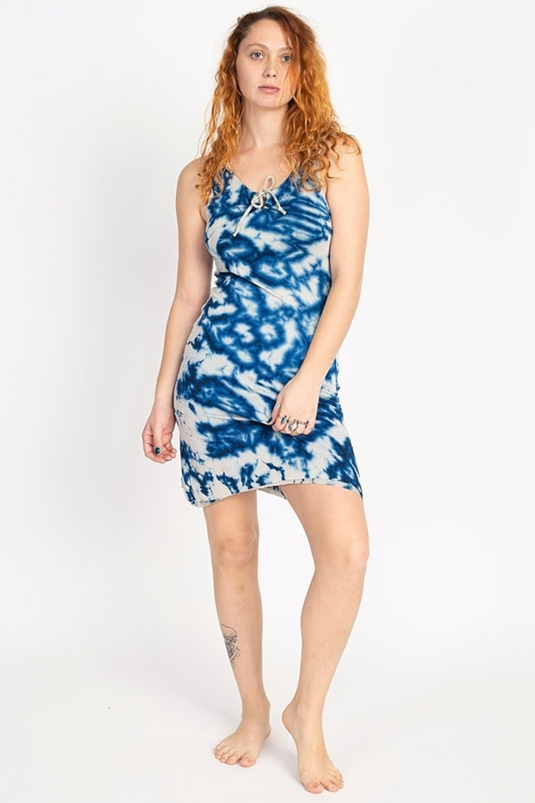 Lakhay's Collection knit tie-dye mini dress - Front Cropped Image