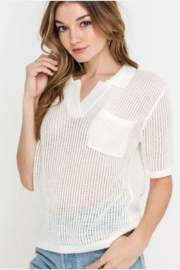Lush Clothing  Knit top - Front full body