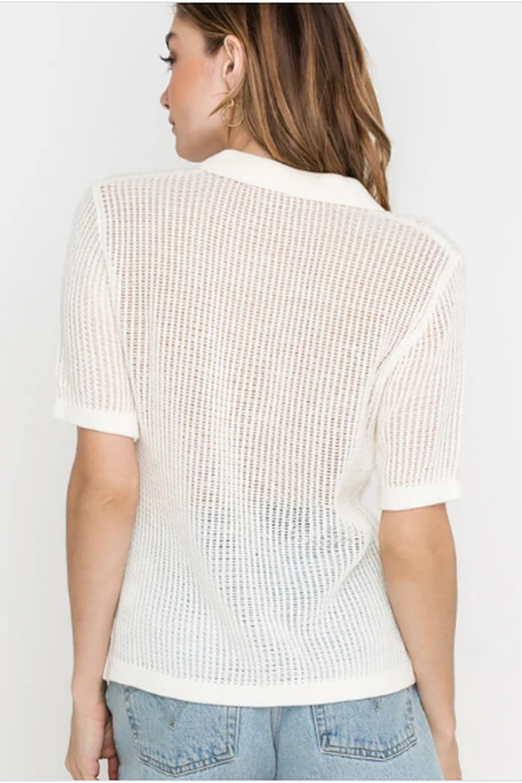 Lush Clothing  Knit top - Side Cropped Image