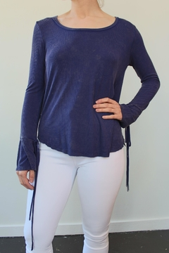 Anama Knit Top Navy - Product List Image