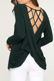 She + Sky Knit Top w Strappy Cross Back - Product Mini Image