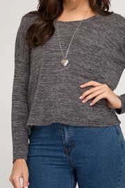 She and Sky Knit Top with Pocket - Front cropped