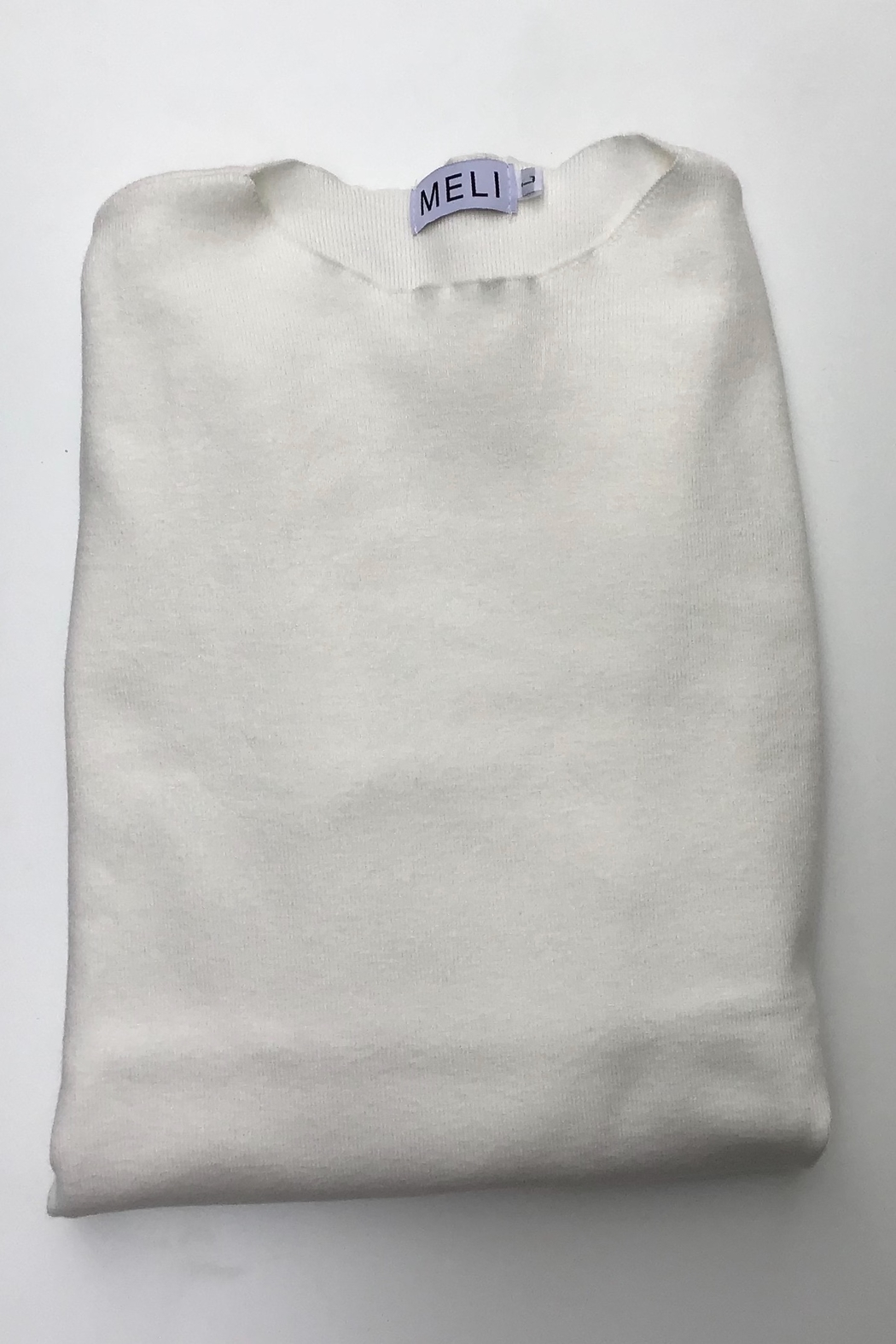 Meli by FAME KNIT TULIP SWEATER - Front Cropped Image