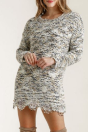 umgee  Knit Tunic Dress with Distressed Hem - Product Mini Image