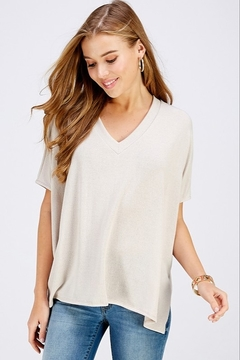 Caramela Knit V-Neck Top - Product List Image