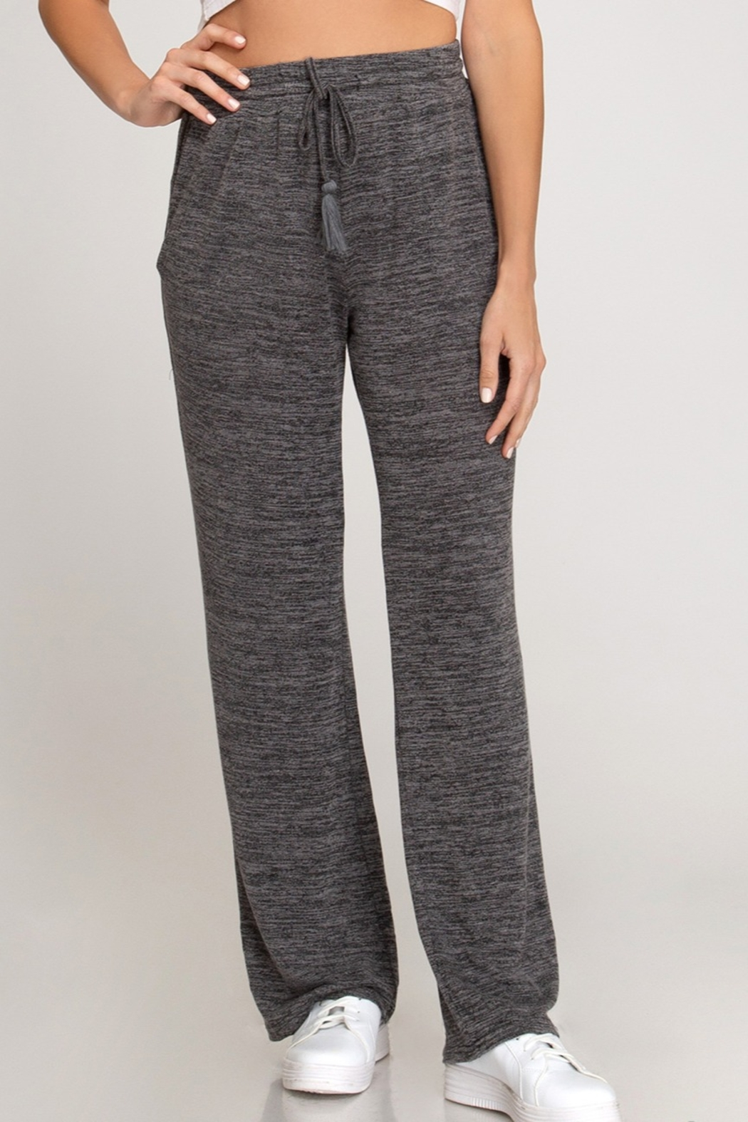 She and Sky Knit Wide Pant - Main Image