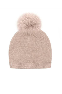 Mitchies Matching Knit Wool Hat - Fox Pom - Alternate List Image
