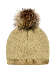 Mitchies Matching Knit Wool Hat - Raccoon Pom - Alternate List Image