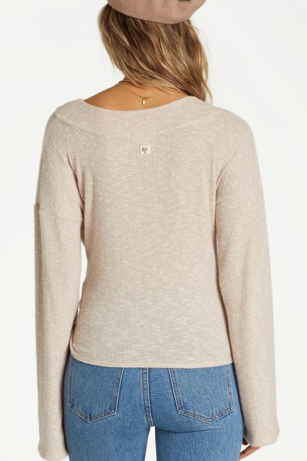 Billabong Knit  Wrap Top - Front Full Image