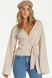 Billabong Knit  Wrap Top - Front cropped