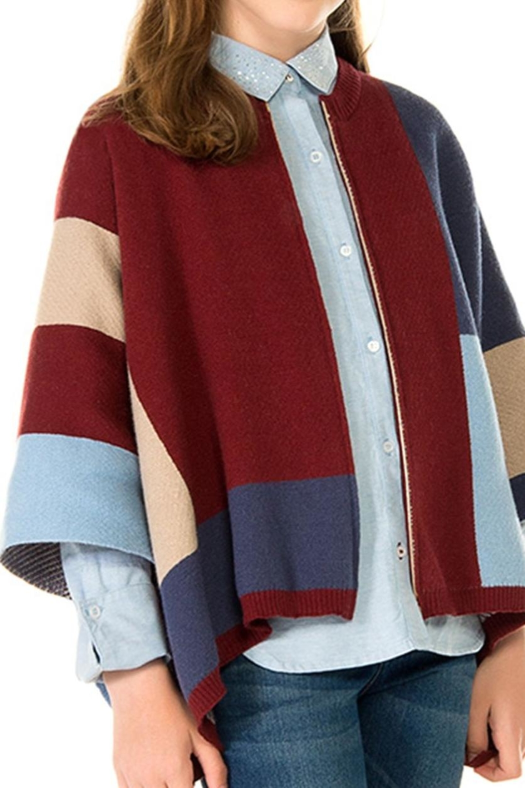 cba4329830cf4 Mayoral Knit Zip Poncho from Mississippi by Popfizz Boutique ...