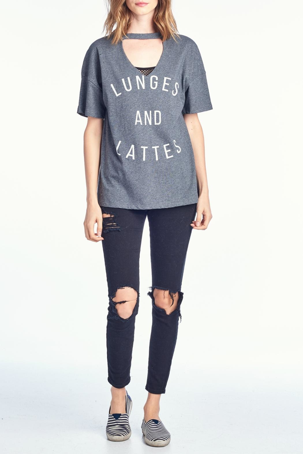 Knit Riot Lunges Lattes Tee - Main Image