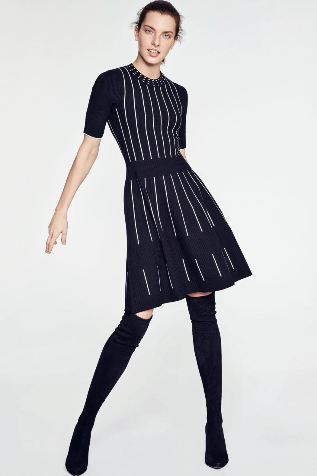 Knitss Fit & Flare Dress - Main Image