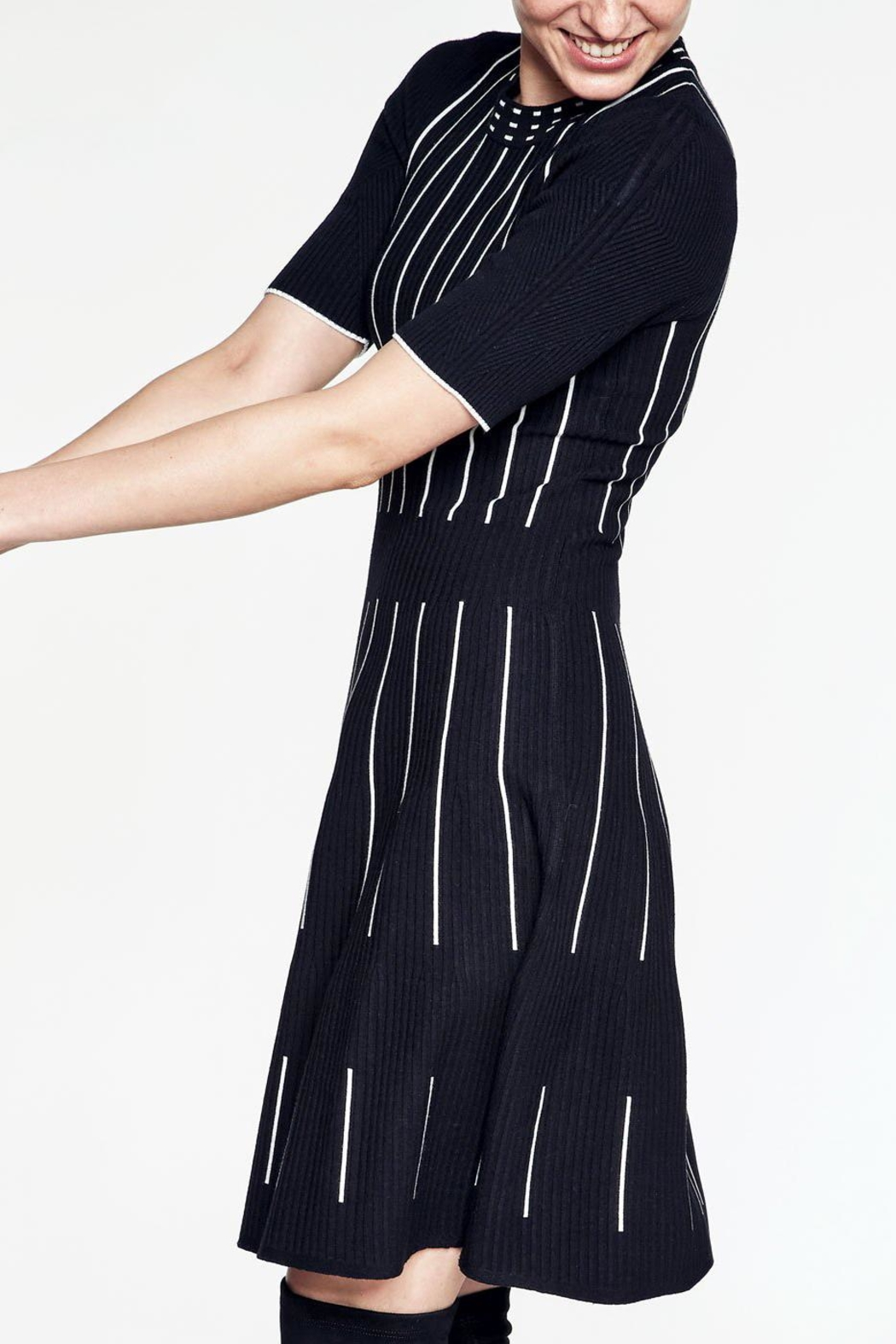 Knitss Fit & Flare Dress - Front Full Image