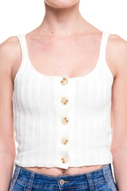 debut Knitted Buttoned Tank - Side cropped
