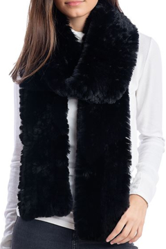 Fabulous Furs Knitted Faux Fur Scarf - Product List Image