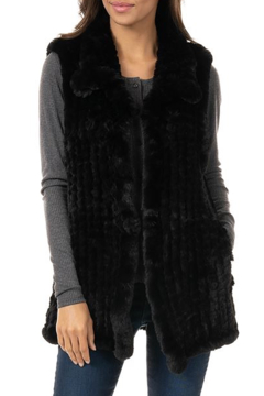 Fabulous Furs Knitted Faux Fur Vest - Product List Image