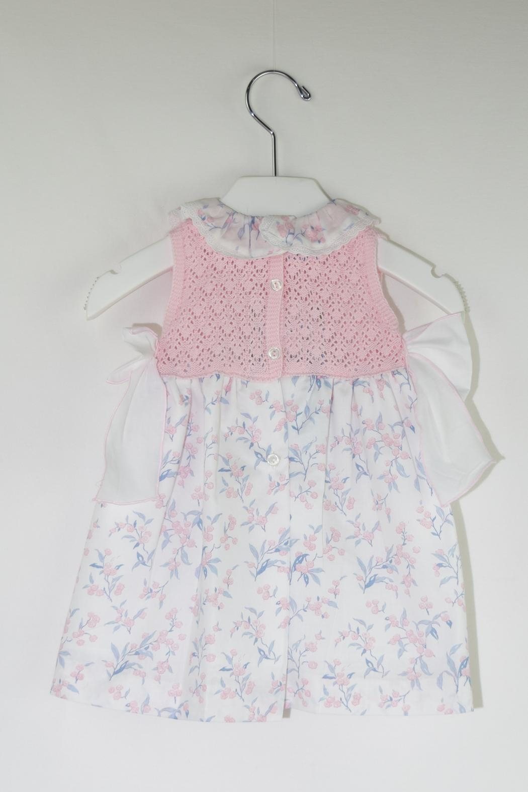 Foque Knitted Flower Dress - Front Full Image