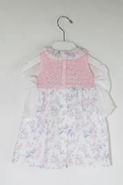 Foque Knitted Flower Dress - Front full body